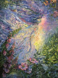 "Inspirational Card ""I Think I Saw a Fairy"" Inspirational Greetings Card by Josephine Wall (ISG45677)"